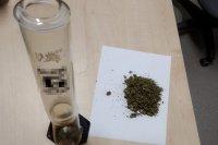 Zabezpieczona przez policjantów marihuana
