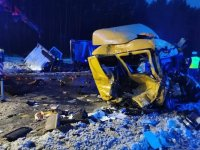 Miejsce wypadku drogowego na trasie DK1 w Dąbrowie Górniczej.